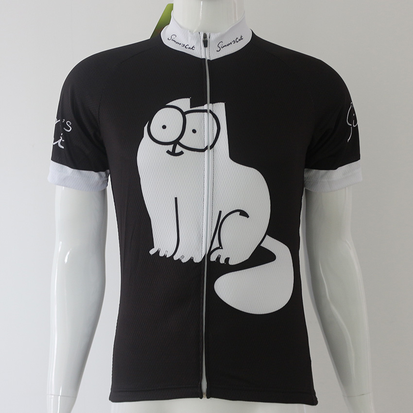 Simons Cat MEOW Black Cycling Jerseys and Bib Short Cycling jersey