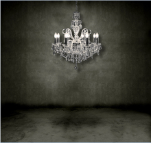 8x15FT Indoor Dark Grey Gray Concrete Wall Shadow Floor Chandelier Custom Photo Studio Backdrop Background Vinyl 8x12 10x20(China)