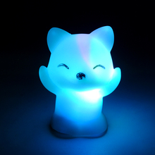7 Changing Colors LED Night Light Fox Shaped LED Night Light Party Home Decoration Lamp Nightlight Great Gift For Kids