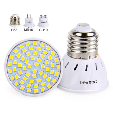 Led Spotlight 220V 230V Led Lamp Bulb E27 GU10 MR16 High Bright Light SMD2835 48/60/80LEDs Lampara For Home Lamps