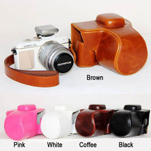 PU leather Camera Bag Case Cover Pouch with strap for OLYMPUS Pen E-PL7 EPL7 E-PL8 EPL8 with 14-42mm , 1PCS(China)