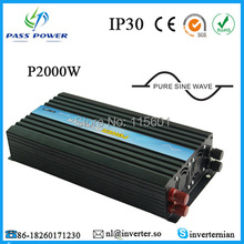 Free Shipping ROHS CE Single Off Grid 12VDC 24V 48V 110V 100V 120V 220VAC 230V 240V Solar Power Pure Sine Inverter 2000W(China)