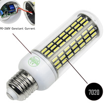 Aluminum PCB 90-260V SMD 7020 E27 E14 G9 GU10 B22 LED lamp 66 88 102 138LEDs Led bulb stable better than 5730 warm white/white