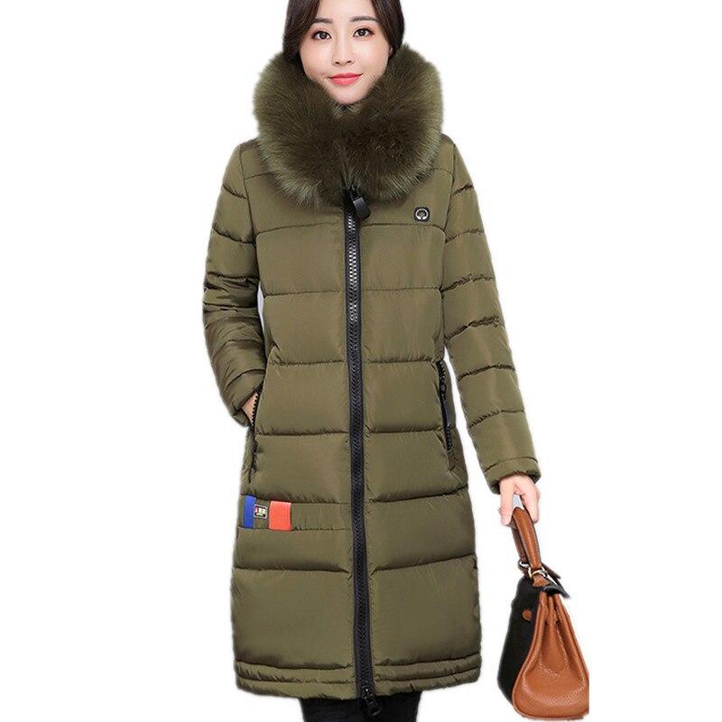 Winter Medium-long Letter Print Fur Collar Cotton Jacket Hooded Padded Coat Thick Warm High Quality Parka Women Jacket TT3076Îäåæäà è àêñåññóàðû<br><br>