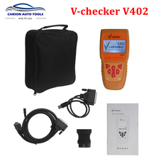 New Arrival 2015 High Quality V-CHECKER V402 VAG Oil Reset OBD2 Diagnostic tool auto code reader oil service tool DHL Free