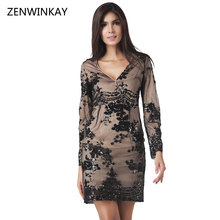 Buy 2017 Vintage Women Pencil Slim Dress Women's Short Glitter Dresses Womens Long Sleeve High Waist Vestido Ladies Lace Sexy Dress for $20.99 in AliExpress store