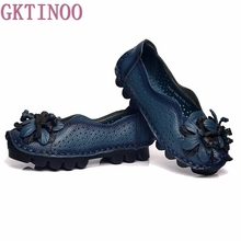 Buy Handmade vintage cutout women's shoes genuine leather female moccasins loafers soft outsole casual shoes flats for $31.33 in AliExpress store