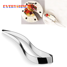 Gadgets Stainless Steel Cake Slicer Server Cake Pie Cutting Guider Bread Pizza Baking Knife Divider Cake Tools JK136