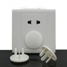 100 Pieces Lot Home safety outlet protection outlet cover child safety protection against electric plastic plug Two Sides