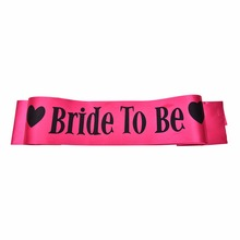 Hot Sale Hen Party Sash Pink Satin Black Write Bride To Be Sash Hens Night Out Decoration Sash Decorative Flowers & Wreaths(China)