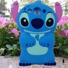 For Huawei Honor 4X Case Silicone 3D Cute Blue Stitch Soft Rubber Mobile Phone Covers Cases(China)