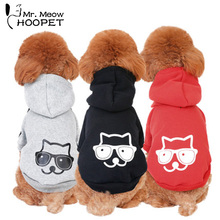 Hoopet Pet Dog Cat Hoodie Cotton Coat Kitten Cartoon Design Casual Sweater Jumpsuit Sweatshirt Kitty Clothes Apparel(China)