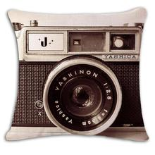 Manufacturers Selling Cartoon Camera Illustration Decorative Cotton Linen Throw Pillow Cushion For Children's Holiday Gifts