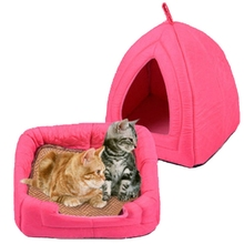 High Quality Cat Pet Bed Soft Comfortable Pet House for Small Dog Kennel Tent Dog House Sleeping Cushion Mat Dog Cage