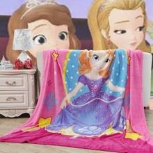 2016 New 1.5x2M Princess Sofia Coral Fleece Blanket Air Conditioning Cartoon Blanket Sheets Christmas Gifts Girl Birthday Gifts