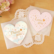 New Design Heart New Year Birthday Wish Greeting Card with Envelope Message Card Valentine 's Day Universal Card 10pcs/pack