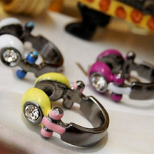 R115 2017 Design Fashion Earphone Ring  Vintage Jewelry Women Finger Rings HOT Selling Wholesale