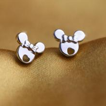 Buy Jisensp New Fashion Cute Cartoon Miky Mouse Stud Earrings Women brincos 2017 Original Female Jewelry Gift pendientes for $1.79 in AliExpress store