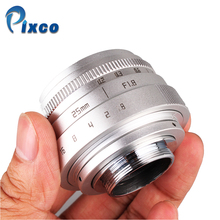 Buy Picxo Mini 25mm F1.8 F/1.8 APS-C Television TV Lens/CCTV Lens 16mm C Mount Camera for $40.53 in AliExpress store