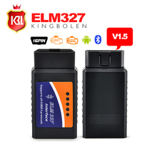 High Quality ELM327 Auto Scanner ELM 327 Bluetooth OBD2 for Android Torque OBDII Car V1.5 Vehicle Scan Diagnostic Tool Free Ship