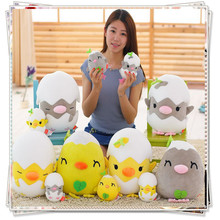 Cute chick pillow mamas papas plush toys doll emoji pillow kids toys cute stuffed animals with big eyes baby graduation gift(China)