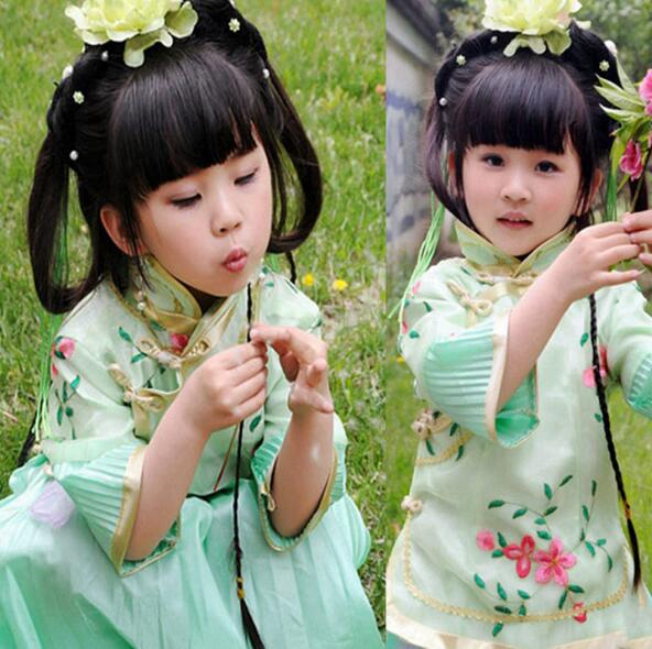 2017 hot Summer Dress 2017 Child Cheongsam Female Child Tang Suit Jacquard Small Cheongsam Chinese Style Costume<br><br>Aliexpress