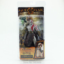 "God of War 1pcs 7.5"" NECA God of War Kratos in Golden Fleece Armor with Medusa Head PVC Action Figure Collection  #GOW002"