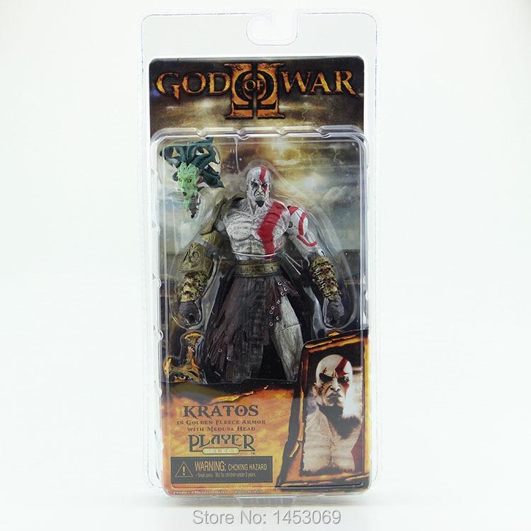 God of War 1pcs 7.5 NECA God of War Kratos in Golden Fleece Armor with Medusa Head PVC Action Figure Collection  #GOW002<br><br>Aliexpress