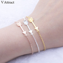 V Attract B082 Unique One Direction Charm Arrow Bracelets for Women Men Jewelry Christmas Gift Vintage Bracelet(China)