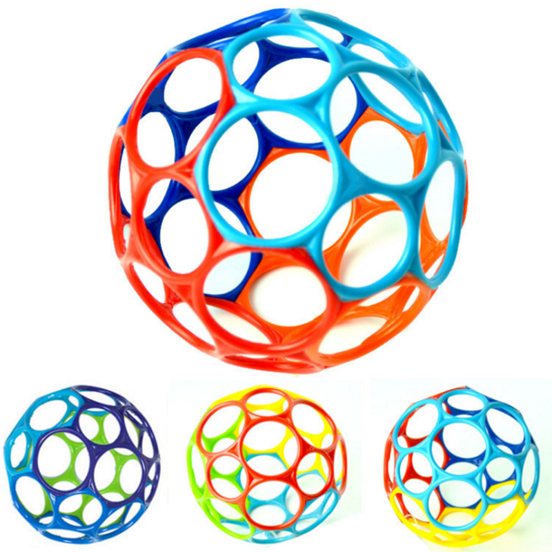 Large Fun Rattle Develop Baby Intelligence Grasping Gums Wave Ball Hand Bell Funny Bite Catch Hole Toys Xmas Kids Birthday Gift