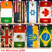 Soft TPU Passion Flags Phone Case For Micromax Canvas Spark Q380 Different Country National Protectors Housings Hoods Skin Bags