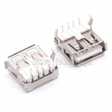 2017 Hot Sale 10Pcs USB Type A Standard Port Female Solder Jacks Connector PCB Socket USB-A type