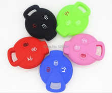 3 Button Silicone Key Cover Mercedes Benz Smart City Coupe Roadster Fortwo Forfour car key case auto parts car accessories 1