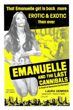 EMMANUELLE AND THE LAST CANNIBALS 1977 Exploitation Sex XXX Movie Art Wall Decor Fabric Poster P0663