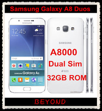"Samsung Galaxy A8 Duos Original Unlocked 4G LTE Android Mobile Phone Octa Core A8000 Dual Sim RAM 2GB 32GB 5.7"" 16MP Snapdragon"