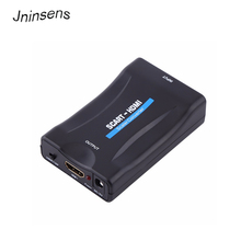 Jninsens HD 1080P SCART To HDMI Video Audio Upscale Signal Converter Adapter for HD TV DVD for Sky Box STB Drop Shipping(China)