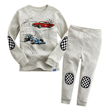 2017 Racing Car Kids Pajamas Cotton Boys Pajamas Sets Children Clothing Baby Sleepwear Spring Autumn Outfits Boys Clothes Set