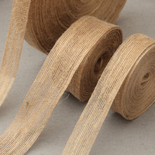 5M Multi Styles Natural Jute Burlap Hessian Ribbon Tapes Roll Vintage Rustic Wedding Party DIY Decorative Crafts(China)