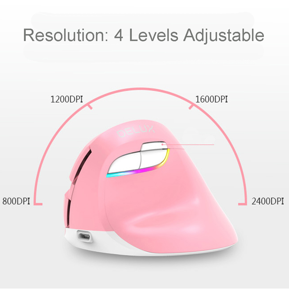 Delux M618 Mini Mouse Wireless Vertical Wireless Mouse