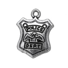 Buy Skyrim Handmade Jewelry Accessories Making Vintage Floating Pendants Police Dept Badge Army Profession Message Charms 10Pcs for $2.56 in AliExpress store