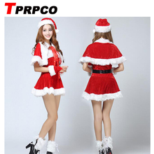 TPRPCO Sexy Adult Women Christmas Costume Sweetheart Miss Santa Dress