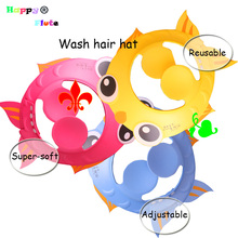 HappyFlute Baby wash hair Hat Adjustable kids Shampoo Bath Bathing Shower Cap Direct Visor Caps For Children Care 1 pcs Pack(China)