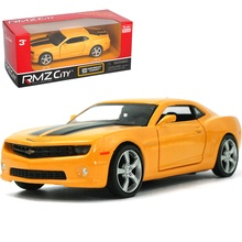 UNI 1/36 Scale USA Chevrolet Camaro Yellow Diecast Metal Pull Back Car Model Toy New In Box For Gift/Kids/Christmas
