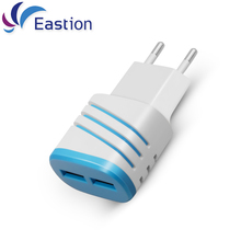 Eastion Mobile Phone Charger for iPhone Samsung Adapter Device 2 Prots USB 5V 2A EU Plug Multiple Wall Charging for iPad Xiaomi