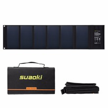 Suaoki Solar Panel 40W high conversion Efficiency 18V 5V Output Solar battery charger for phone mounting hiking traveling PC