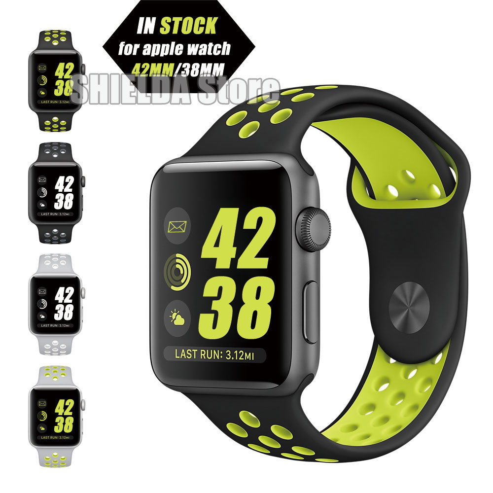 For Apple Watch Band Flixble Silicone Black Volt Band for Apple Watch Series 1 &amp; 2 42MM 38MM<br><br>Aliexpress
