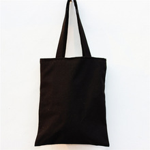 Casual tote fashion handbags Black canvas shoulder bag large shoulder bag cotton canvas tote bags student bookbags school bag