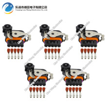 5 Sets DJ7051K-1.5-21 Auto Female Parts Connector Wiper Motor For The Great Wall Geely 5 Pin Lear Waterproof Connector 182420000(China)