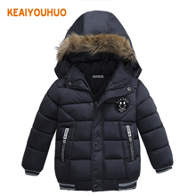 2017 New Baby Winter Coat Kids Warm Winter Outerwear Hooded fashion Children Down Jackets Boys Girls Cotton Coat