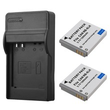2Pcs 1200Mah  NB6L NB-6L Digital Camera Battery with Charger For Canon IXUS 310 SX240 SX275 SX280 SX510 SX500 HS 95 200 105 210